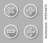 sign mathematics | Shutterstock .eps vector #595914674
