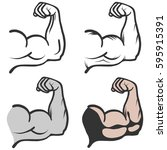 biceps  biceps icon  muscle ... | Shutterstock .eps vector #595915391