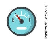 gasoline dashboard icon logo.... | Shutterstock .eps vector #595929647