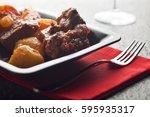 traditional hungarian goulash... | Shutterstock . vector #595935317