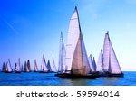 sailing regatta on the sea