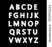 the english alphabet from... | Shutterstock . vector #595953221