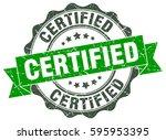 certified. stamp. sticker. seal.... | Shutterstock .eps vector #595953395