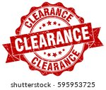clearance. stamp. sticker. seal.... | Shutterstock .eps vector #595953725