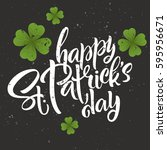 happy st. patrick's day... | Shutterstock .eps vector #595956671