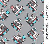 a food truck pattern.   Shutterstock .eps vector #595957544