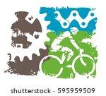 mountain bike grunge background....   Shutterstock .eps vector #595959509