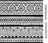 seamless ethnic and tribal... | Shutterstock .eps vector #595963901