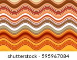colorful wavy stripes pattern.... | Shutterstock . vector #595967084