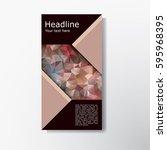 abstract brochure layout vector ... | Shutterstock .eps vector #595968395