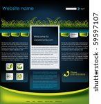 ecology website template  vector   Shutterstock .eps vector #59597107