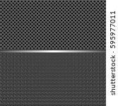 gray textured background... | Shutterstock .eps vector #595977011