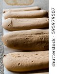 ladyfinger or savayer cookies   ... | Shutterstock . vector #595979507