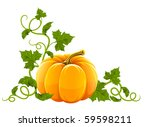 Ripe Orange Pumpkin Vegetable...