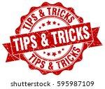 tips   tricks. stamp. sticker....   Shutterstock .eps vector #595987109