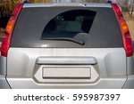 dirty car view of glass of a... | Shutterstock . vector #595987397