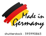 seal of quality with country... | Shutterstock .eps vector #595990865
