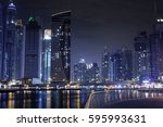 dubai night | Shutterstock . vector #595993631