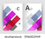 set of front and back a4 size...   Shutterstock .eps vector #596002949