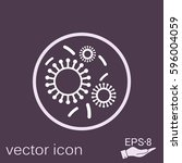bacteria and viruses vector icon   Shutterstock .eps vector #596004059