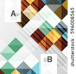 vector square elements on gray... | Shutterstock .eps vector #596008565