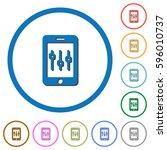 smartphone tweaking flat color... | Shutterstock .eps vector #596010737