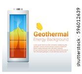 green energy concept background ... | Shutterstock .eps vector #596012639