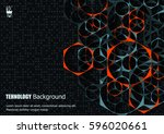 abstract background with... | Shutterstock .eps vector #596020661