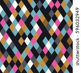 seamless rhombus background.... | Shutterstock .eps vector #596032949