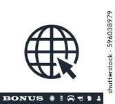 globe web icon flat. simple... | Shutterstock . vector #596038979