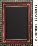 decorative frame with golden... | Shutterstock .eps vector #596050661