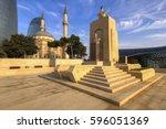 baku  azerbaijan  november 2013 ... | Shutterstock . vector #596051369