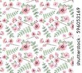 seamless pattern of watercolor... | Shutterstock . vector #596053169