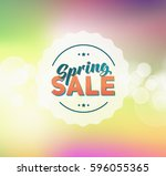 abstract colorful spring green... | Shutterstock . vector #596055365
