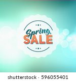 abstract colorful spring green... | Shutterstock . vector #596055401