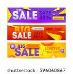 big sale for website banner....   Shutterstock .eps vector #596060867