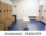 interior of an empty cloakroom | Shutterstock . vector #596061554