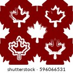 seamless canada maple leaf... | Shutterstock .eps vector #596066531