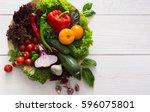 heap of fresh organic... | Shutterstock . vector #596075801