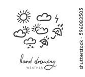 vector weather icons set. hand...
