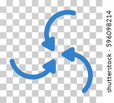 vortex arrows icon. vector... | Shutterstock .eps vector #596098214