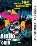 urban music background | Shutterstock .eps vector #59610079