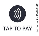 tap to pay concept   vector... | Shutterstock .eps vector #596102147