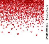 red pattern of random falling... | Shutterstock . vector #596104679