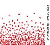 red pattern of random falling... | Shutterstock . vector #596104685