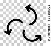 cyclone arrows icon. vector...   Shutterstock .eps vector #596105021