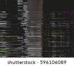 modern glitched background... | Shutterstock .eps vector #596106089