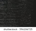corrupted source code. modern... | Shutterstock .eps vector #596106725