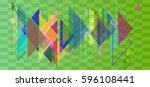 geometric elements idea | Shutterstock .eps vector #596108441
