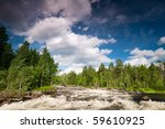 Rapid River in Karelia. North Russia - stock photo